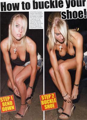Як модель Kayleigh Pearson взуття поправляла (злегка НЮ)