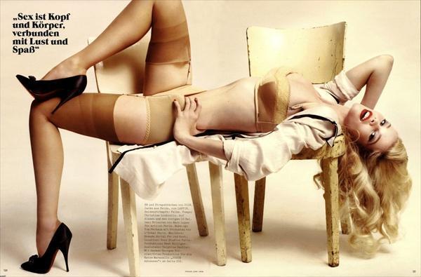 Клаудиа Шиффер (Claudia Schiffer) для немецкого Vogue
