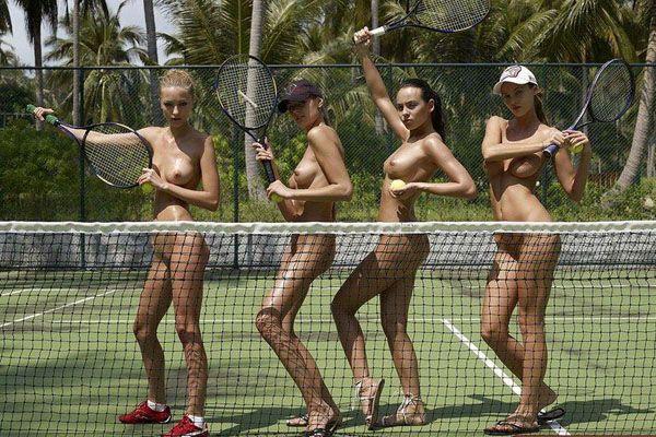 Теннис нагишом. Супержаркие фото!