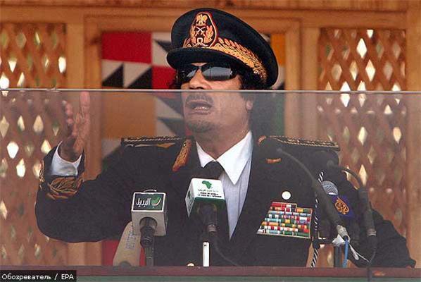Революционер Каддафи: Барак Обама - неполноценный