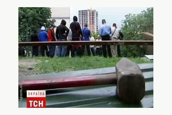 При столкновении с застройщиками пострадал Луценко