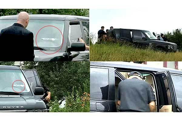 В Харькове обстреляли джип бизнесмена