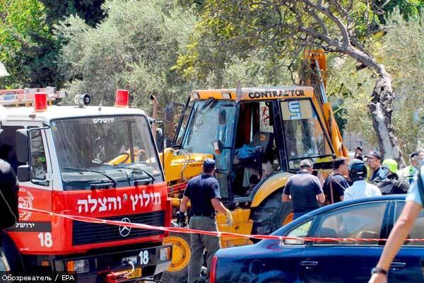 В Иерусалиме снова «тракторный» теракт