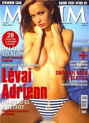 Levai Adrienn в журналі Maxim
