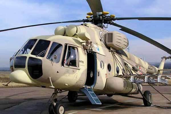 Украинский Ми-8 попал под обстрел