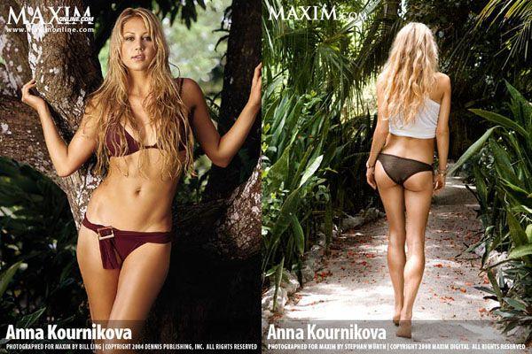 Анна Курникова в сексуальной фотосессии журнала Маxim