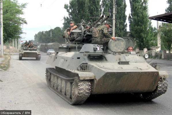 В Осетию вошли грузинские резервисты и российская техника