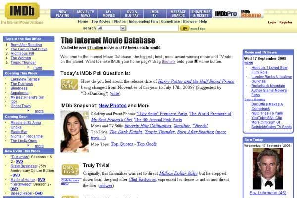 Сайт IMDB відкриє кінотеатр для своїх користувачів