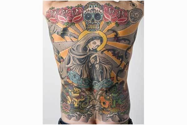 Татуировку на спине продали за 150 тысяч евро