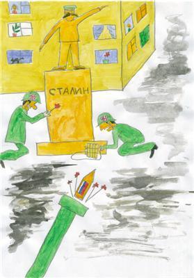 Малюнки дітей: вбивають Сааку, тиснуть танком українця ...