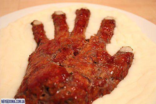 Как сделать руку из мяса на Хэллоуин