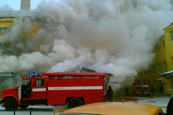 Приміщення ВУЗу в Черкасах охопило полум'я