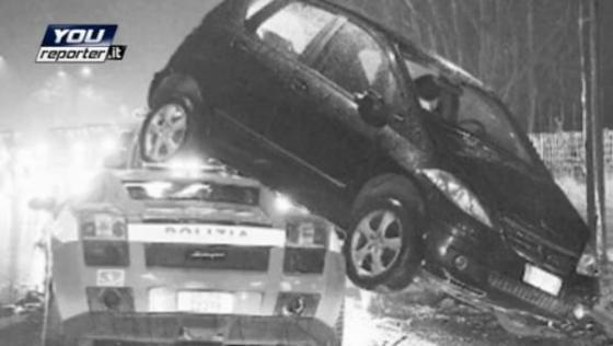 Итальянцы разбили полицейский суперкар
