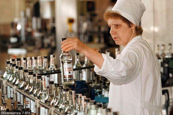 В Украине почти перестали делать водку
