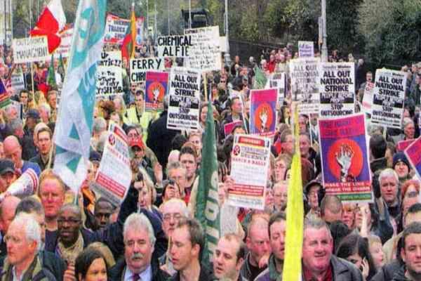 Ірландські чиновники оголосили загальнонаціональний страйк
