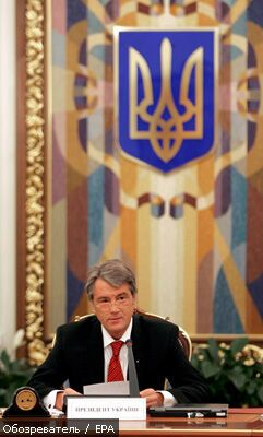 Ющенко звернувся до футболістів з промовами про мощі