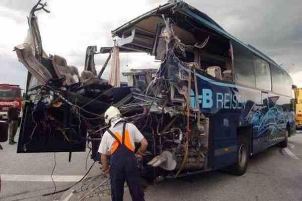 В Австрії згорів туристичний автобус