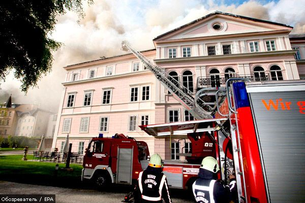 Історичний замок в Зальцбурзі гасили більше 12 годин