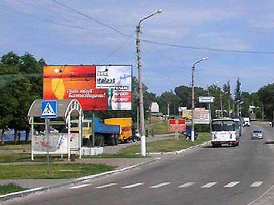 У Кременчуці викрали автобусну зупинку