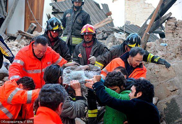 Число жертв землетрусу в Італії перевищила 150 осіб