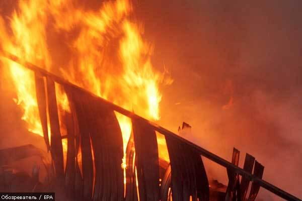 В Киеве сгорели 10 га травы