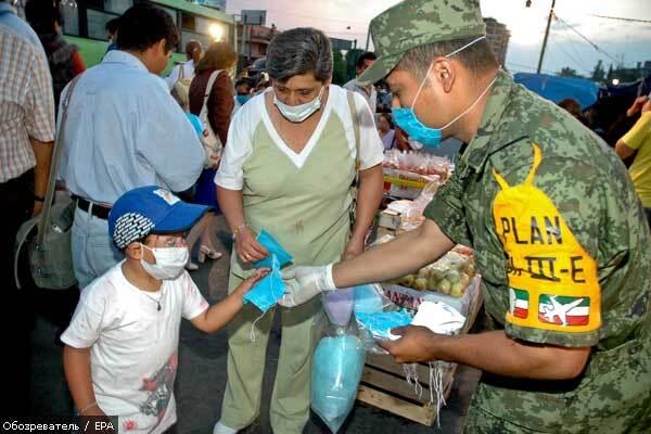 ВОЗ получила от Мексики штамм гриппа A/H1N1