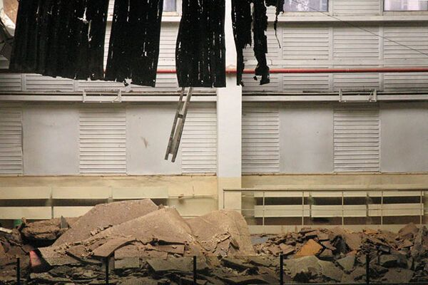 У Полтавской психбольницы сорвало крышу