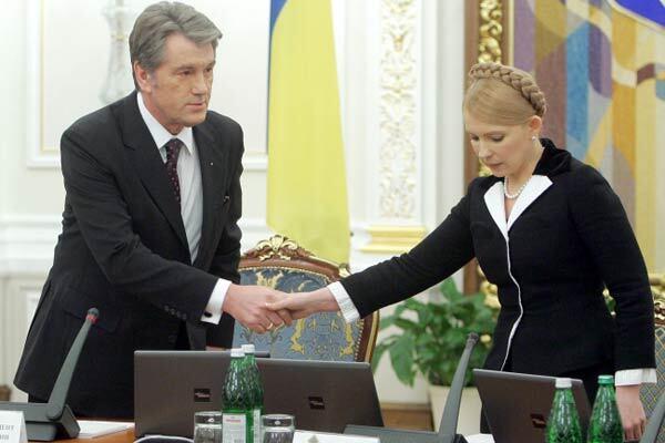 У Ющенко хотят, чтобы Тимошенко ему не перечила