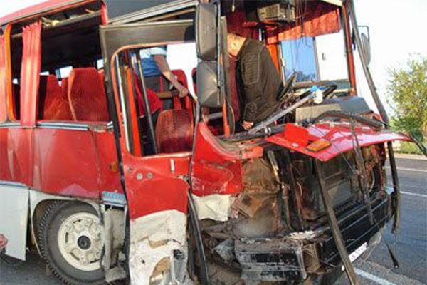 В Подмосковье в аварию попал автобус с детьми