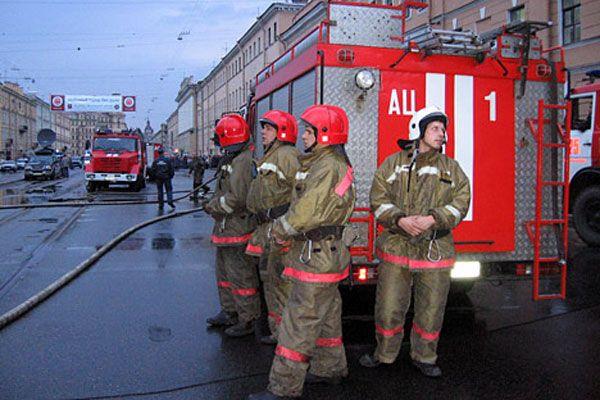 В московской школе пожар