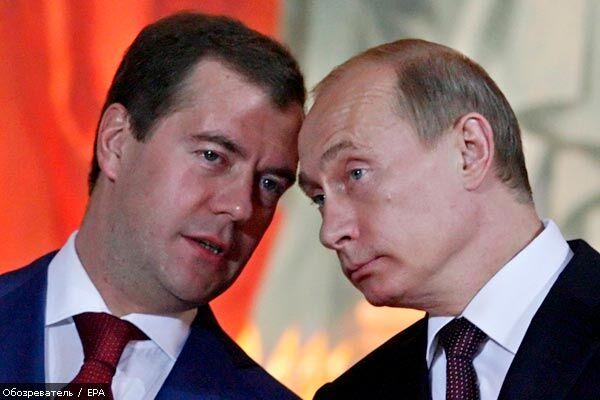 Медведев и Путин поздравили Ющенко