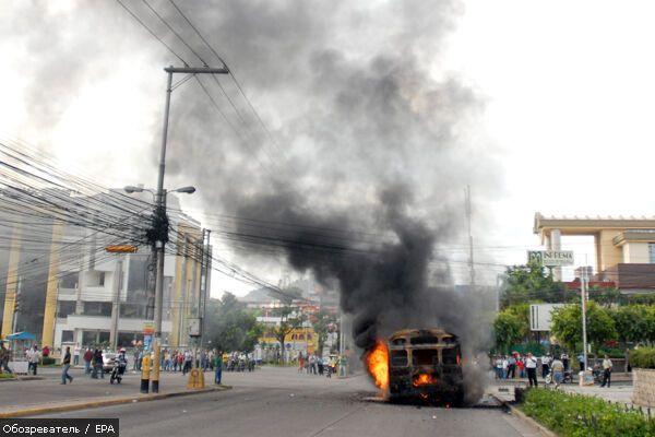 В Гондурасе вспыхнули массовые беспорядки