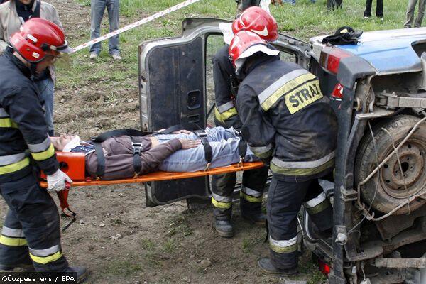 В Луганской области перевернулся автобус с 25 пассажирами