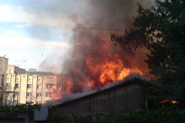 В Харькове горит банк