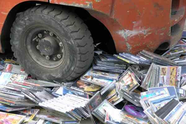 В столице изъяли пиратские диски на 2,8 млн гривень