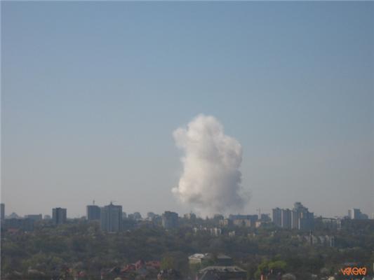 У Києві пролунав потужний вибух. ФОТО