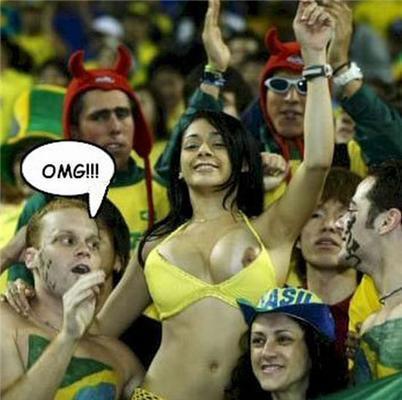 Самая известная бразильская болельщица (фото)