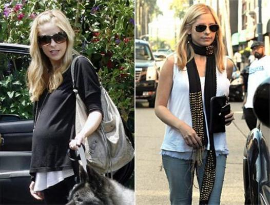 Голливудские знаменитости до и после родов. ФОТО