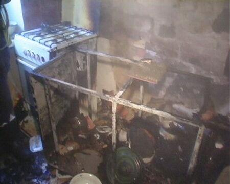 На Чоколовском бульваре дотла сгорела квартира