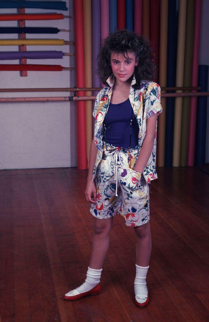 Алисса Милано в детстве была похожа на пуделя
