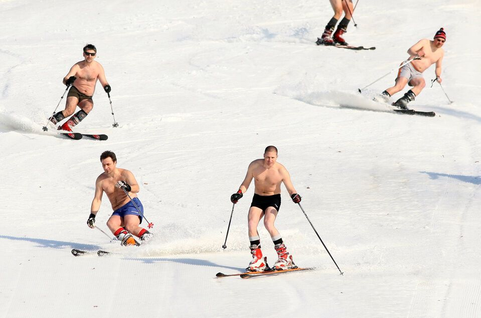 Смешная картинка горнолыжник