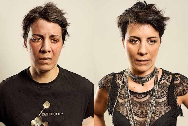 Портреты парижан после и до пробежки