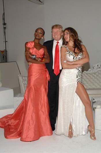 """Трамп и фотоколл организации """"Мисс Вселенная"""""""