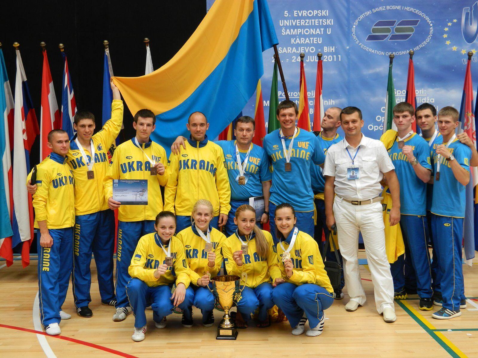 Каратэ: золотой старт Украины в Европе