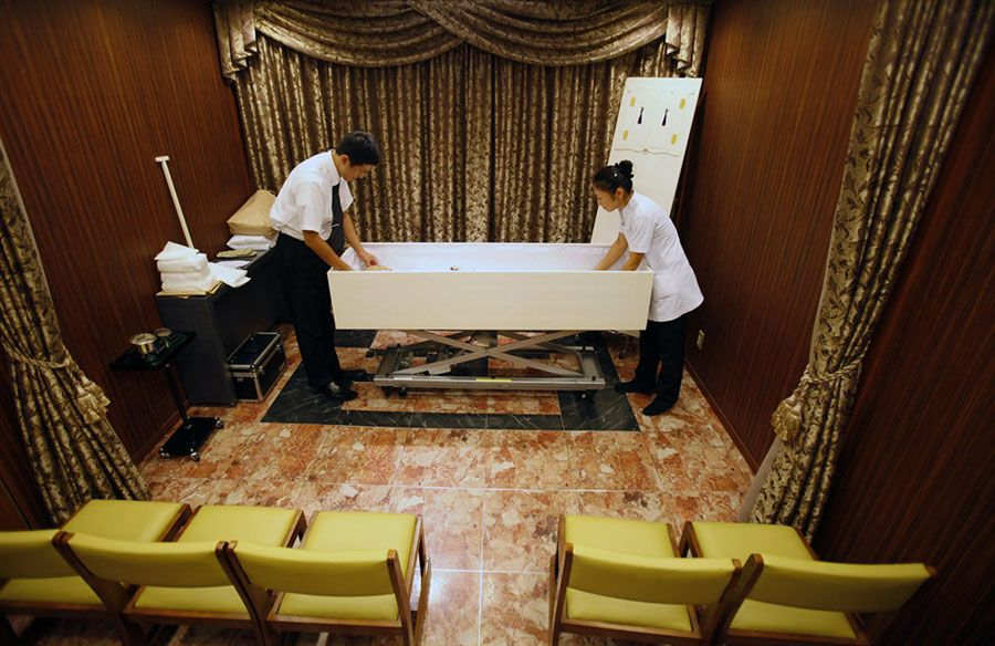 Отель для мертвых в Японии