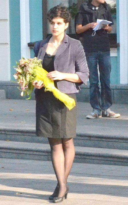 Девушка избила Табачника на глазах у европейских министров. Видео, фото