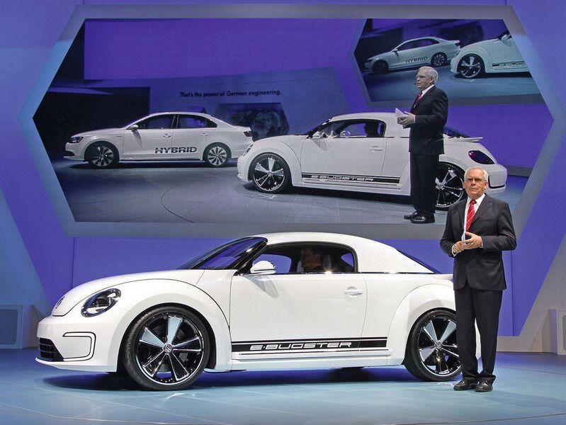 Volkswagen сделал из своего «Жука» необычный электрокар. Фото