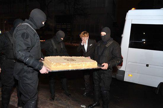Александр Кривошапко отпраздновал День рождения со спецназом