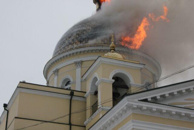 Пожар в соборе на Одесщине: подробности, версии. Фото