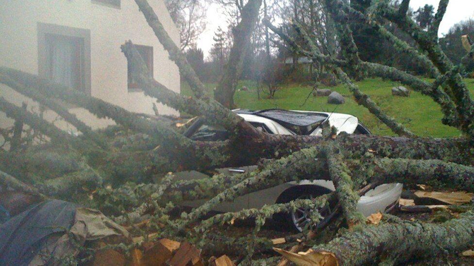 Сильний шторм в Шотландії